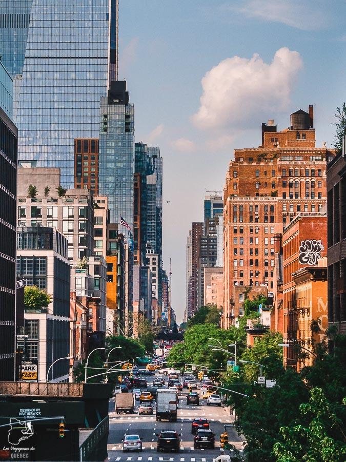 Vue panoramique de New York depuis la High Line dans notre article Les meilleurs points de vue de New York et endroits pour photographier la ville #newyork #usa #etatsunis #vue #panoramique #pointsdevue