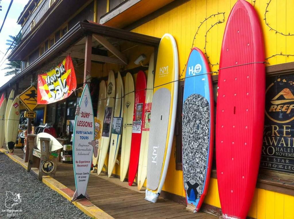 Surf shop au North Shore à Haleiwa dans notre article Le surf à Oahu : Mes plus beaux spots de surf sur cette île d'Hawaii #surf #oahu #waikiki #usa #voyage #spotdesurf