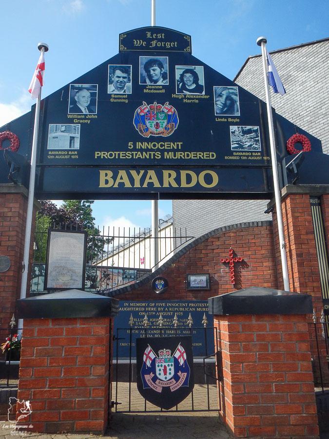 Memorial du côté loyaliste à Belfast en Irlande du Nord dans notre article Visiter Belfast en Irlande du Nord : que faire à Belfast, un musée à ciel ouvert #belfast #irlandedunord #royaumeunis #voyage #citytrip #europe
