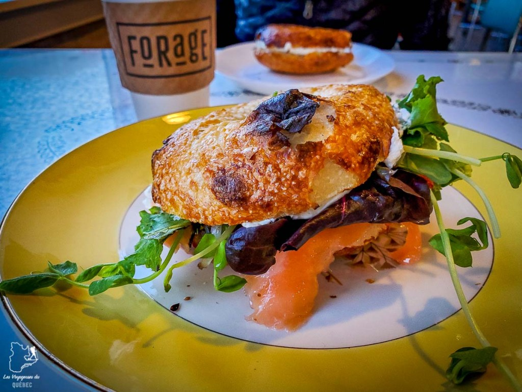 Bagel saumon fumé de chez Forage à Portland dans le Maine dans notre article Visiter Portland : Quoi faire à Portland dans le Maine pour un weekend gourmand #Portland #Maine #USA #voyage #foodtour