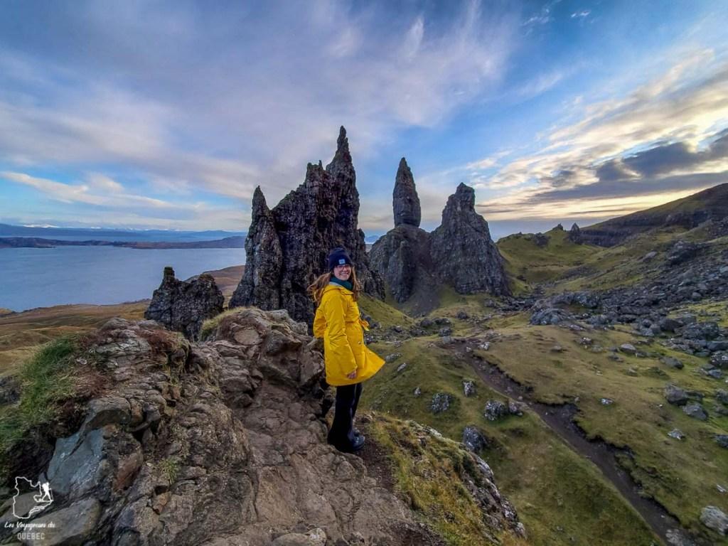 Old man of Storr sur l'île de Sky en Écosse dans notre article Road trip en Écosse : Une semaine de road trip sportif et gastronomique #ecosse #roadtrip #europe #grandebretagne #royaumeunis #voyage