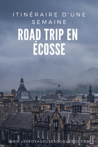 Mon itinéraire de roadtrip en Écosse