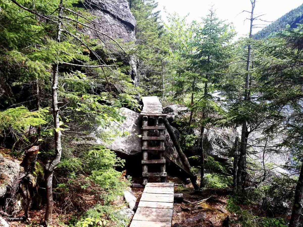 Avalanche Lake pendant la randonnée du Mont Colden dans notre article Devenir un Adirondack 46er : Faire l'ascension des 46 plus hautes montagnes des Adirondacks #adirondack #adirondacks #46ers #46er #ADK46er #montagnes #usa #randonnee