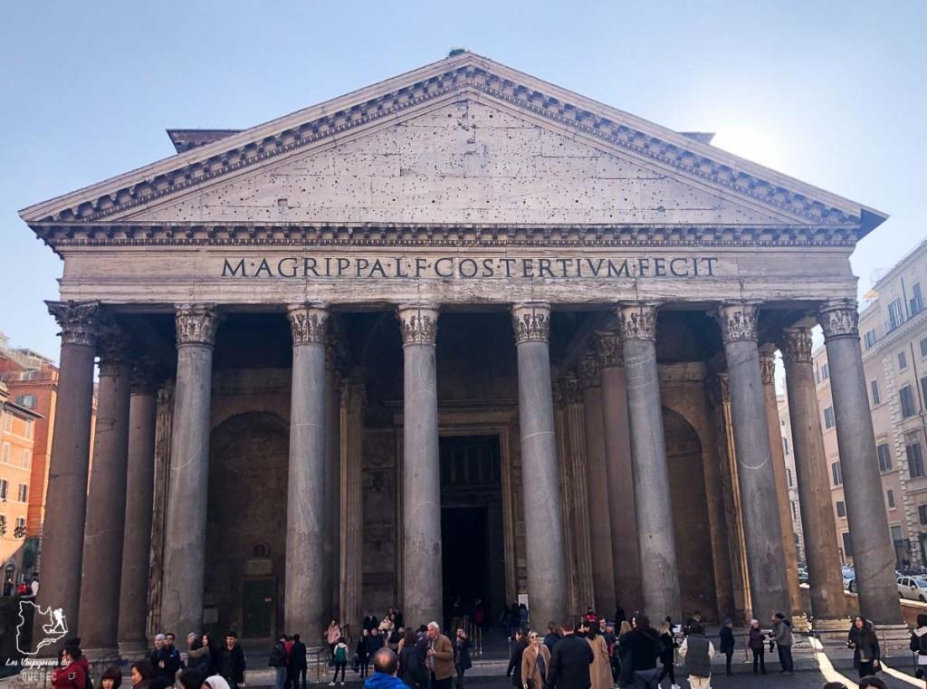 Le Panthéon, à visiter à Rome dans notre article Visiter Rome en 4 jours : Que faire à Rome, la capitale de l'Italie #rome #italie #europe #voyage