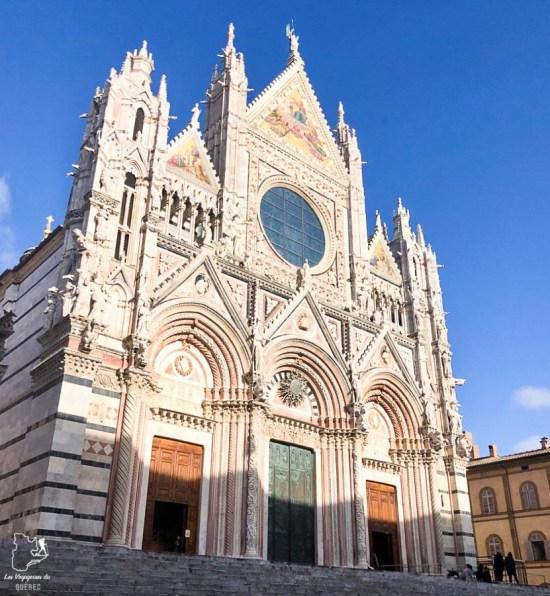 Duomo di Santa Maria Assunta à Sienne en Toscane dans notre article Visiter la Toscane en Italie : Mes incontournables de que faire et voir en 10 jours #toscane #italie #europe #voyage #itineraire #sienne