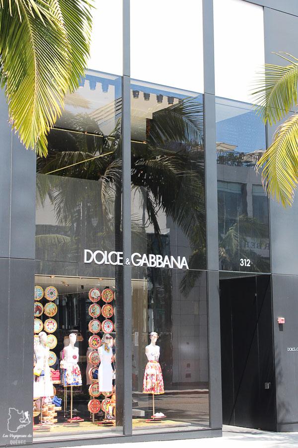 Boutique Dolce Gabbana sur Rodeo drive à Los Angeles dans notre article Visiter Los Angeles aux USA : Que voir et que faire à Los Angeles en 3 jours #losangeles #californie #usa #etatsunis #voyage