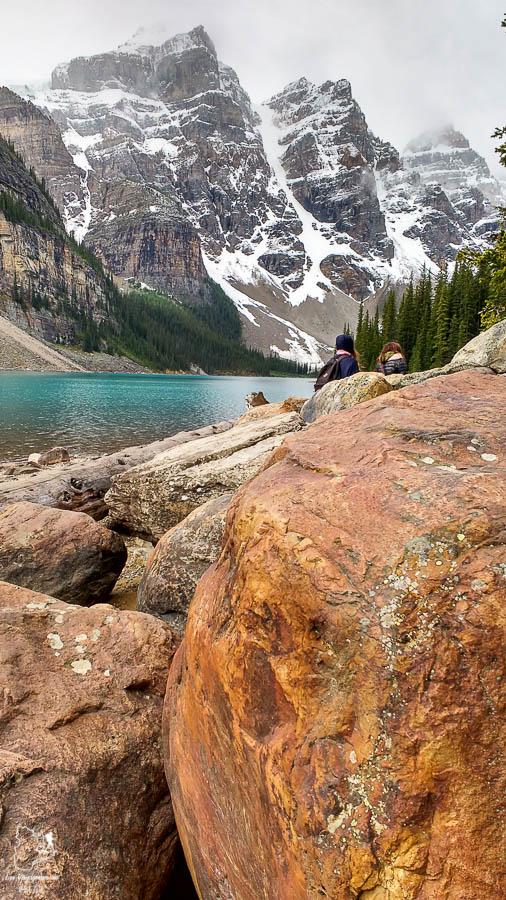 Lac Moraine dans les Rocheuses canadiennes en Alberta dans notre article Road trip vers l'ouest du Canada : mon itinéraire vers la Vallée de l'Okanagan #ouestcanada #ouestcanadien #roadtrip #canada #voyage