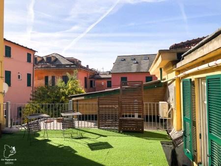 Terrasse du Affittacamere Il Borgo, hébergement à Levanto dans notre article Visiter les Cinque Terre en Italie avec ses charmants villages colorés #cinqueterre #italie #ligurie #voyage #europe