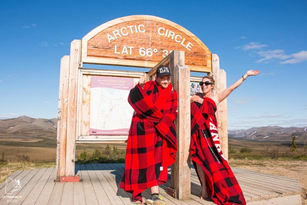 Arrivée au Cercle Arctique en road trip au Yukon au Canada dans notre article Mon road trip au Yukon au Canada : 12 jours de liberté en truck camper au gré du vent #yukon #canada #roadtrip #voyage