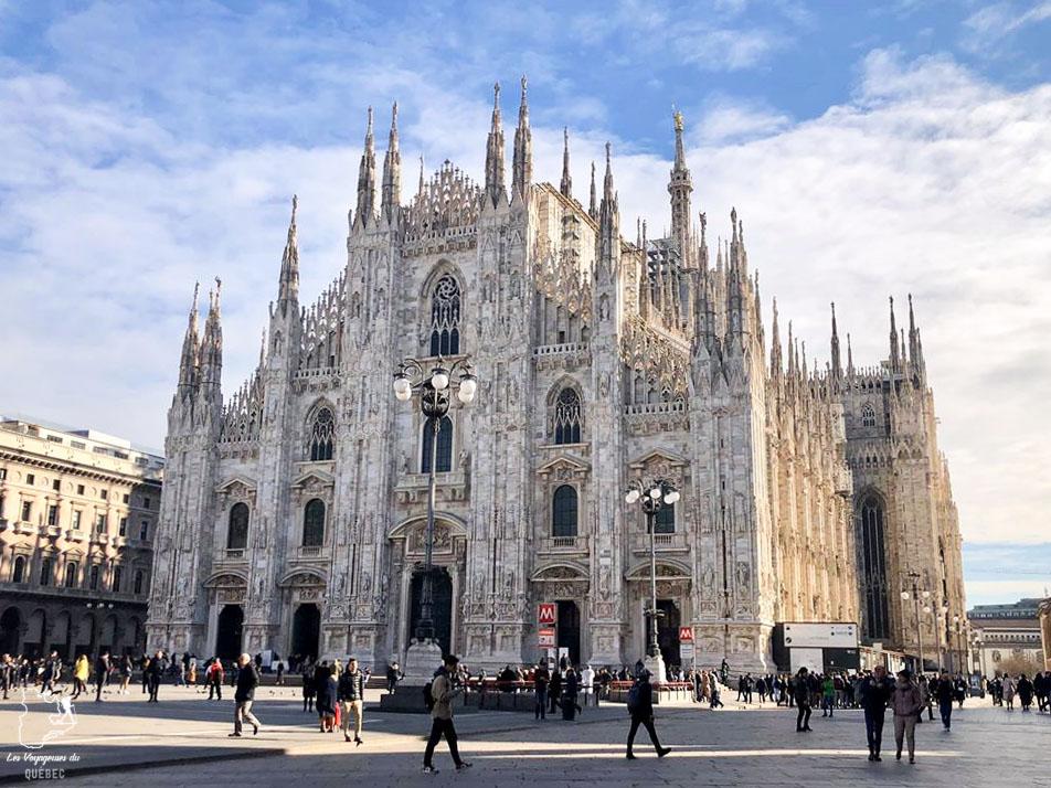 Cathédrale Duomo di Milano à Milan dans notre article Visiter Milan en Italie : 8 incontournables de que voir et que faire en 3 jours #Milan #Italie #Europe #voyage