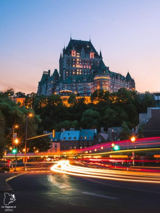 Photographier le château Frontenac à partir de la rue Marché-Champlain dans notre article Visiter Québec à travers ses plus beaux points de vue : 12 endroits où photographier la ville de Québec #quebec #villedequebec #canada #photographie