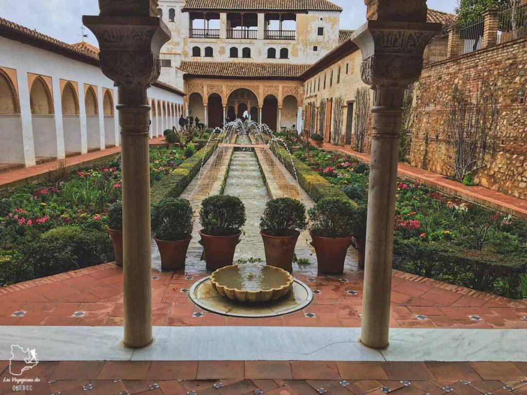 Generalife à Alhambra à Grenade dans notre article Voyage au sud de l'Espagne : Itinéraire de 2 semaines à visiter en mode backpack #espagne #sudespagne #malaga #seville #grenade #europe #voyage #itineraire #backpack