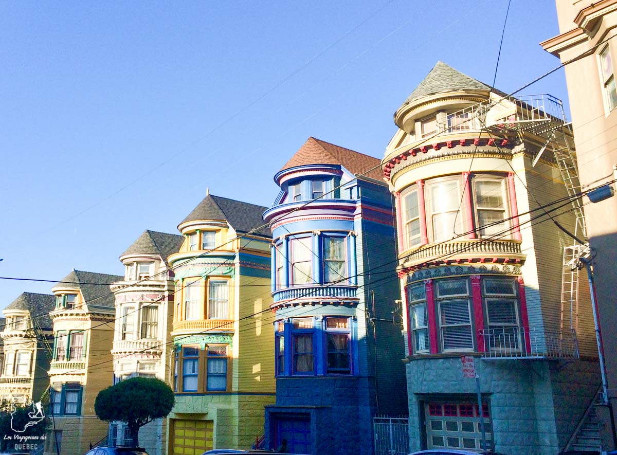 Maisons victoriennes de San Francisco dans notre article Que voir à San Francisco aux USA : ma découverte de la ville en 7 jours #sanfrancisco #californie #usa #etatsunis #voyage