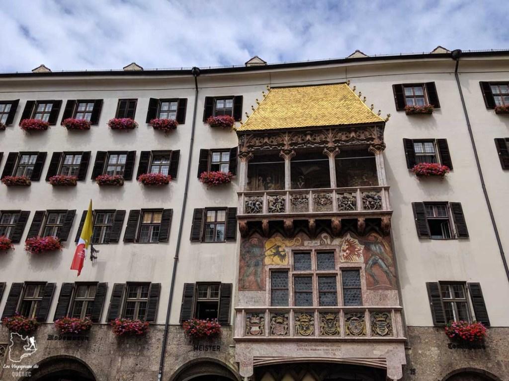 Toit d'or d'Innsbruck dans notre article Petit guide pour visiter Innsbruck en Autriche : Que faire à Innsbruck en un jour #Innsbruck #autriche #europe #voyage