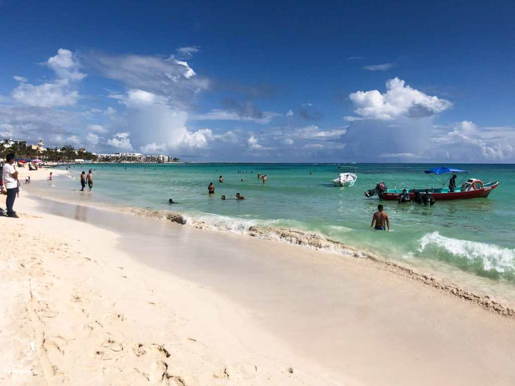 Playa Mamitas à Playa del Carmen au Mexique dans notre article Quoi faire à Playa del Carmen et dans le Quintana Roo au Mexique en indépendant #playadelcarmen #quintanaroo #mexique #voyage #caraibes #yucatan