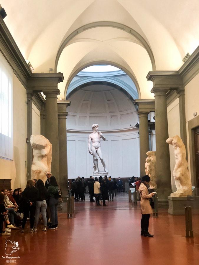 David, de Michel-Ange, dans les Galeries de l'Académie à Florence dans notre article Visiter Florence en 5 jours : Que voir en 10 incontournables de Florence en Italie #florence #italie #europe #toscane #voyage