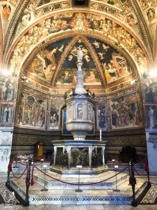 Baptistère San Giovanni dans la cathédrale de Sienne en Italie dans notre article Visiter Sienne en Toscane en Italie en 10 incontournables et adresses foodies #italie #sienne #toscane #voyage