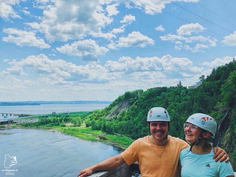 Activité de via ferrata à la Chute Montmorency dans notre article 6 activités à faire au Québec pour les amatrices de sensations fortes #activites #quebec #canada #sportextreme #adrenaline