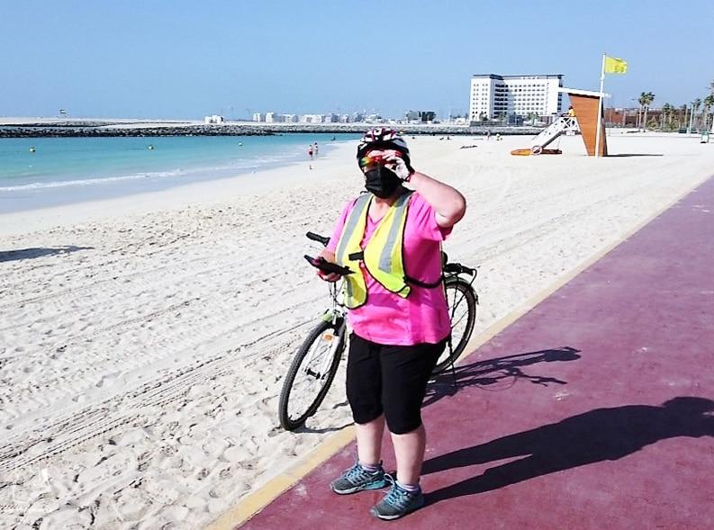 Visiter Dubaï à vélo dans notre article Visiter Dubaï avec un petit budget : Que faire à Dubaï et voir pour un séjour pas cher #dubai #emiratsarabesunis #asie #voyage