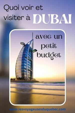 Visiter Dubaï avec un petit budget : Que faire à Dubaï et voir pour un séjour pas cher #dubai #emiratsarabesunis #asie #voyage