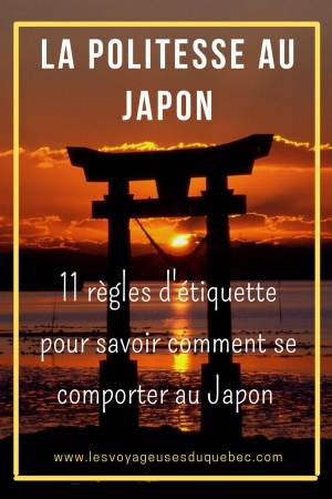 La politesse au Japon et l'étiquette japonaise : Petites règles pour savoir comment se comporter au Japon #japon #politesse #culture #asie #voyage