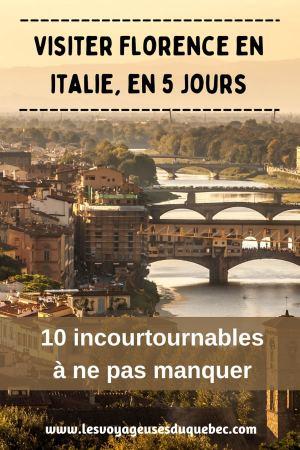 Visiter Florence en 5 jours : Que voir en 10 incontournables de Florence en Italie #florence #italie #europe #toscane #voyage