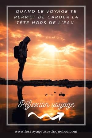 Quand le voyage t'aide à garder la tête hors de l'eau #reflexion #voyage #depression