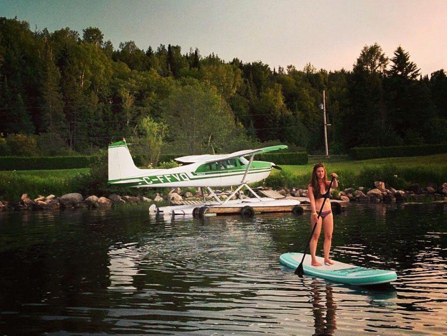 SUP au Parc des Cascades à Rawdon dans notre article 5 spots de SUP (paddleboard) à moins de 1 heure de Montréal pour débutants #SUP #paddleboard #montreal #quebec