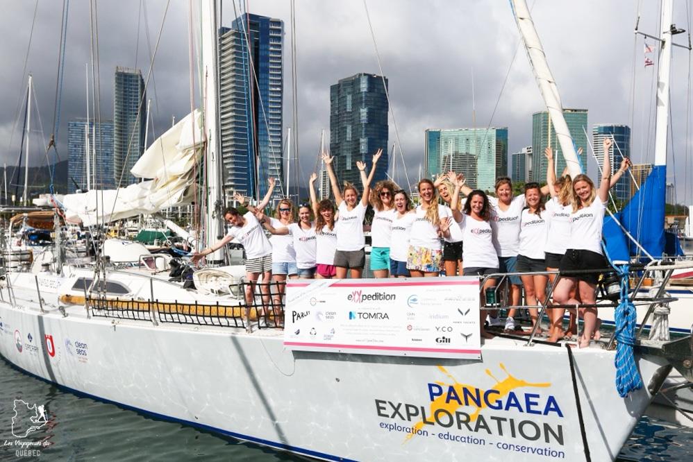 Équipage Mission eXXpedition dans notre article Elle participe à Mission eXXpedition : projet écologique en mer totalement féminin #exxpedition #ecologie #environnement #voilier #femme #voyage
