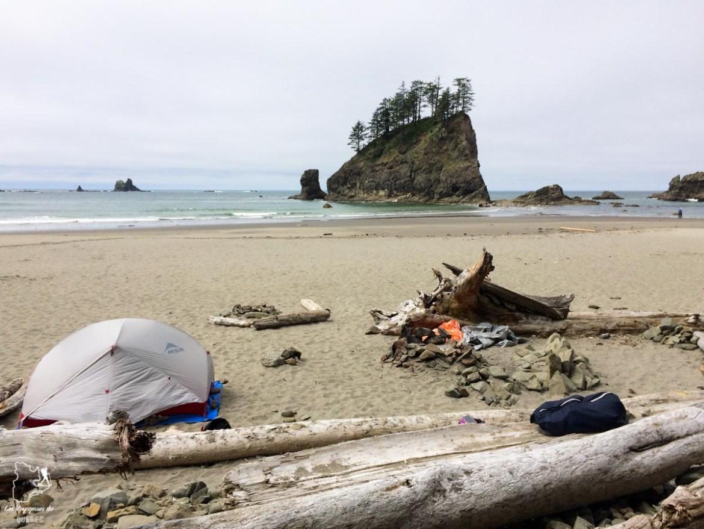 Camping sur une plage dans l'État de Washington dans notre article Voyage en auto-stop : De l'Alaska à la Californie sur le pouce, une aventure humaine #autostop #pouce #voyage #usa #canada