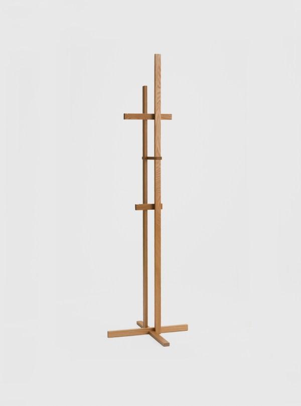 elements coat rack stand japanese oak ariake shin azumi