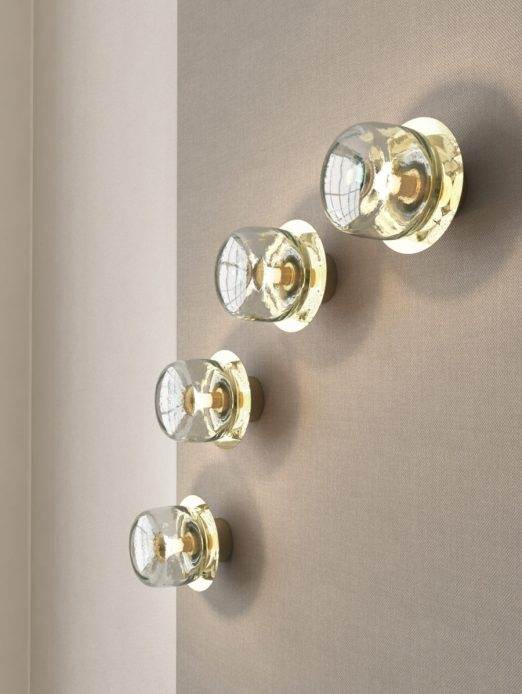 Warmth of a set of Cupallo wall lamps David Pompa