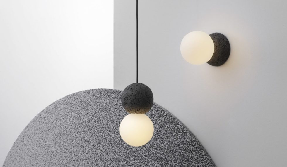 Combination of Origo pendant and wall lamps