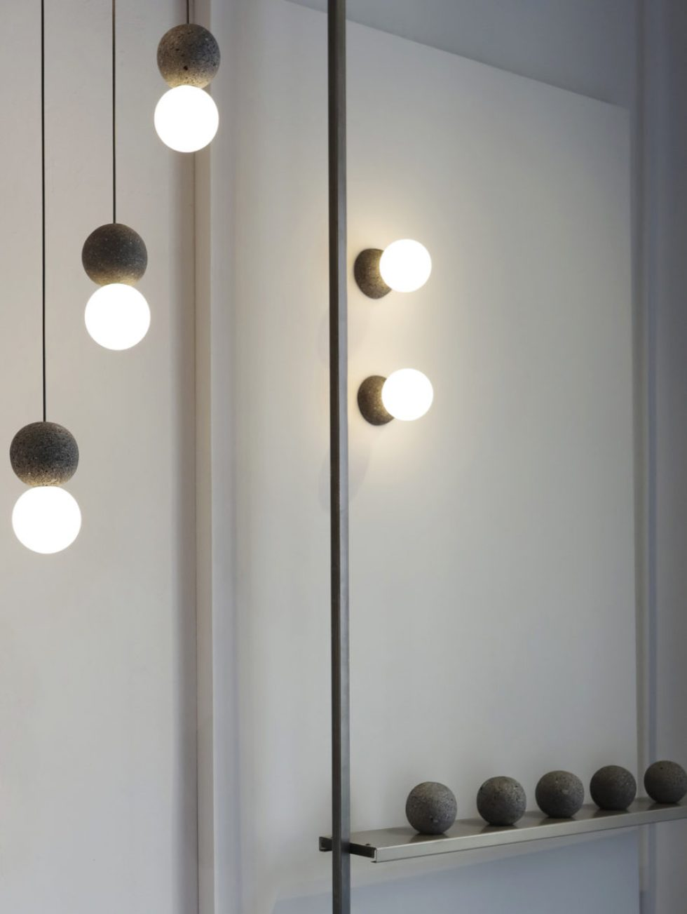 Origo lamps. Showroom David Pompa
