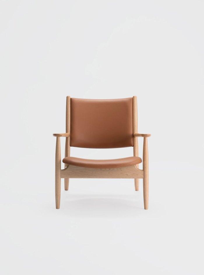 summit lounge chair natural oak