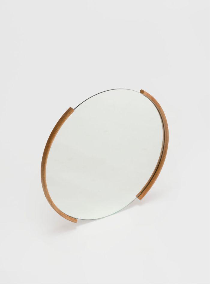 split mirror large smoked oak ariake