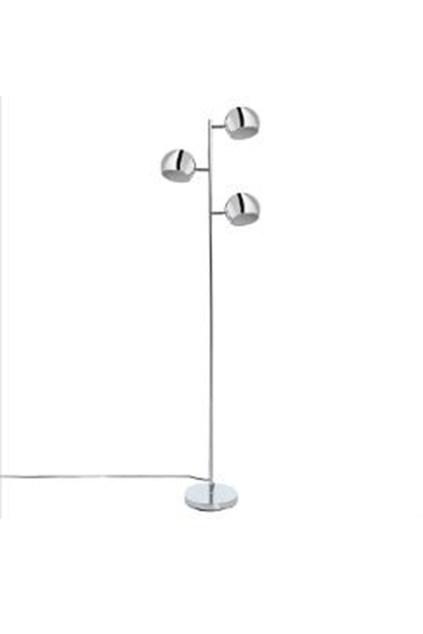 Lampadaire en métal chromé 3 têtes boule orientables- 76,99 €
