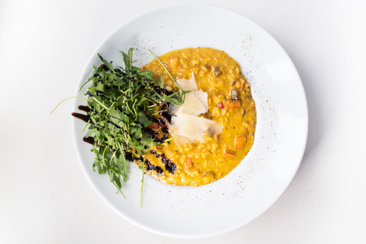 A tasteful vegetables risotto from our chefs