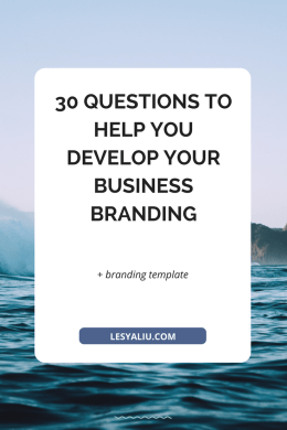 30 Questions to Help You Develop Your Business Branding