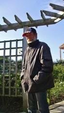 André dans son jardin...