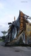 Ruines brulées de l'entreprise Comté à Wimille
