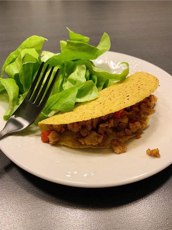 Tacos au poulet haché