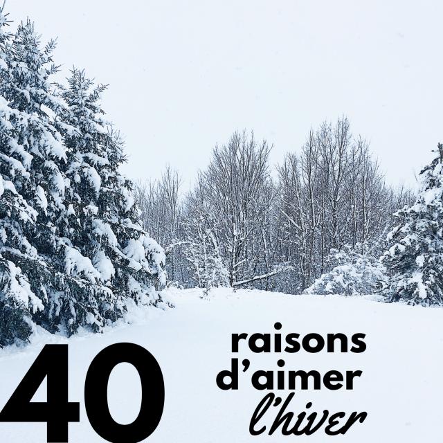 40 raisons d'aimer l'hiver