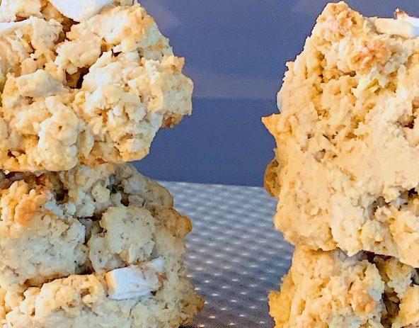 Biscuits à l'avoine, aux pommes et aux pépites de chocolat