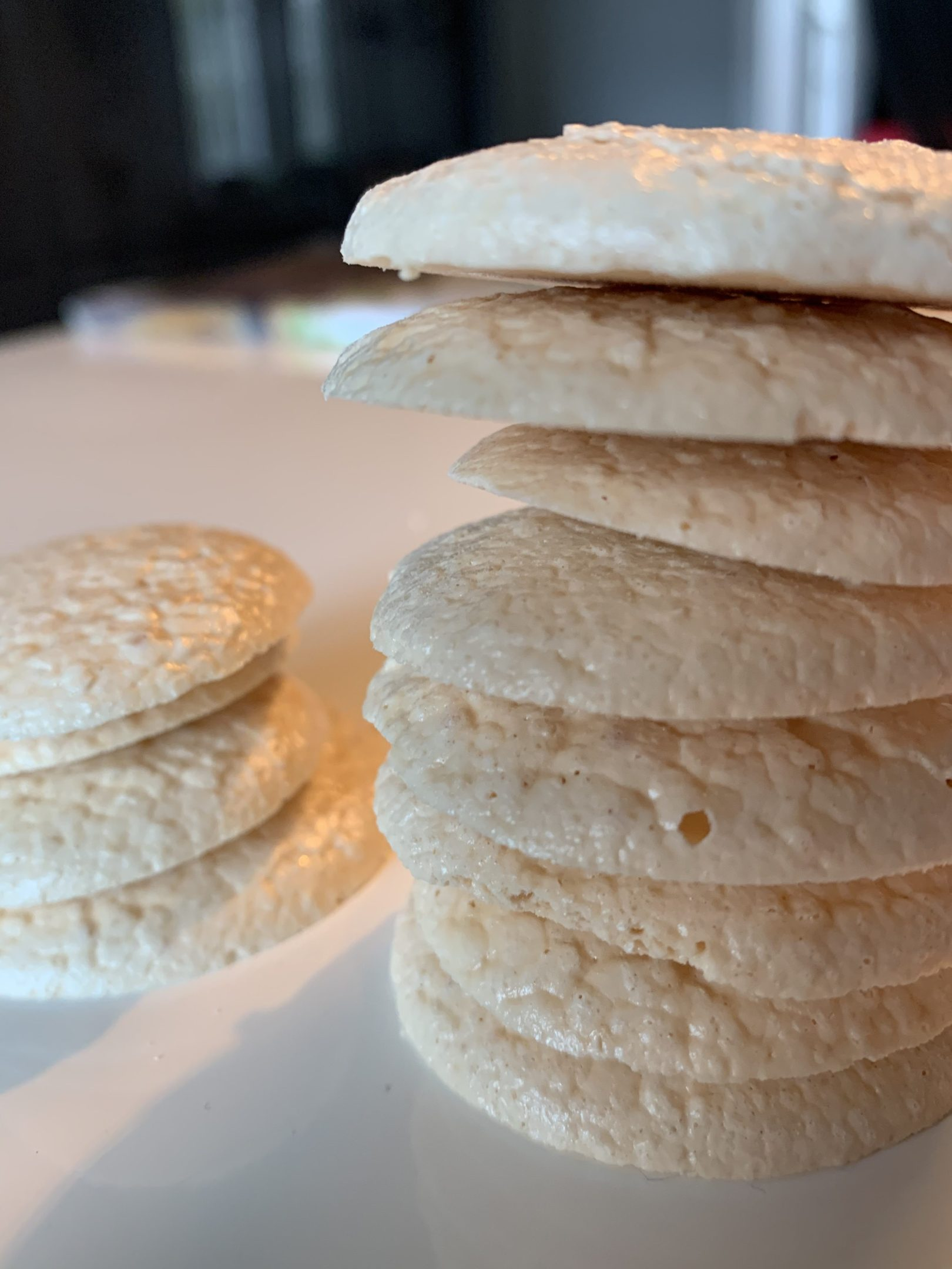Meringues plates