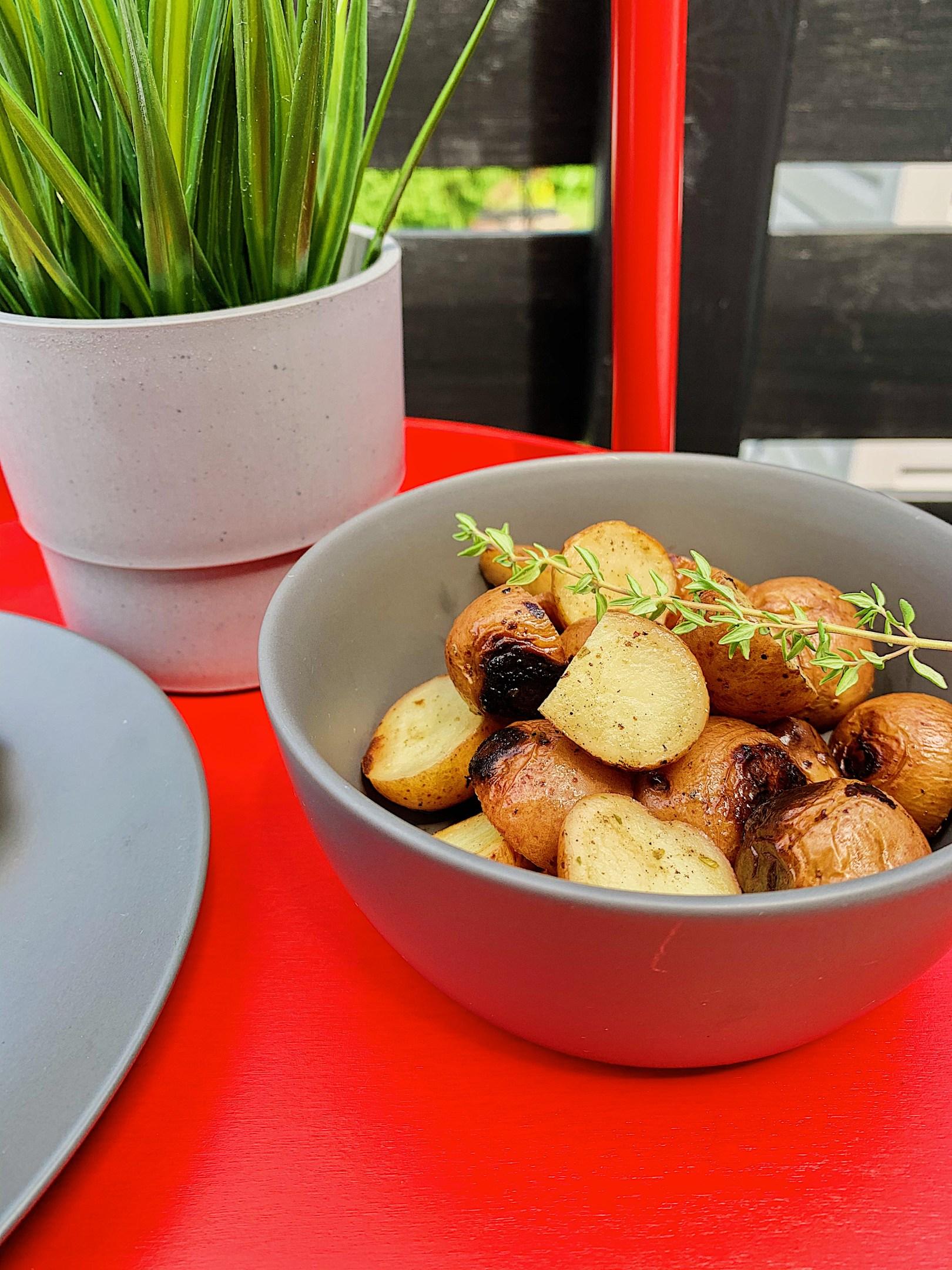 Pommes de terre grelots au citron sur BBQ