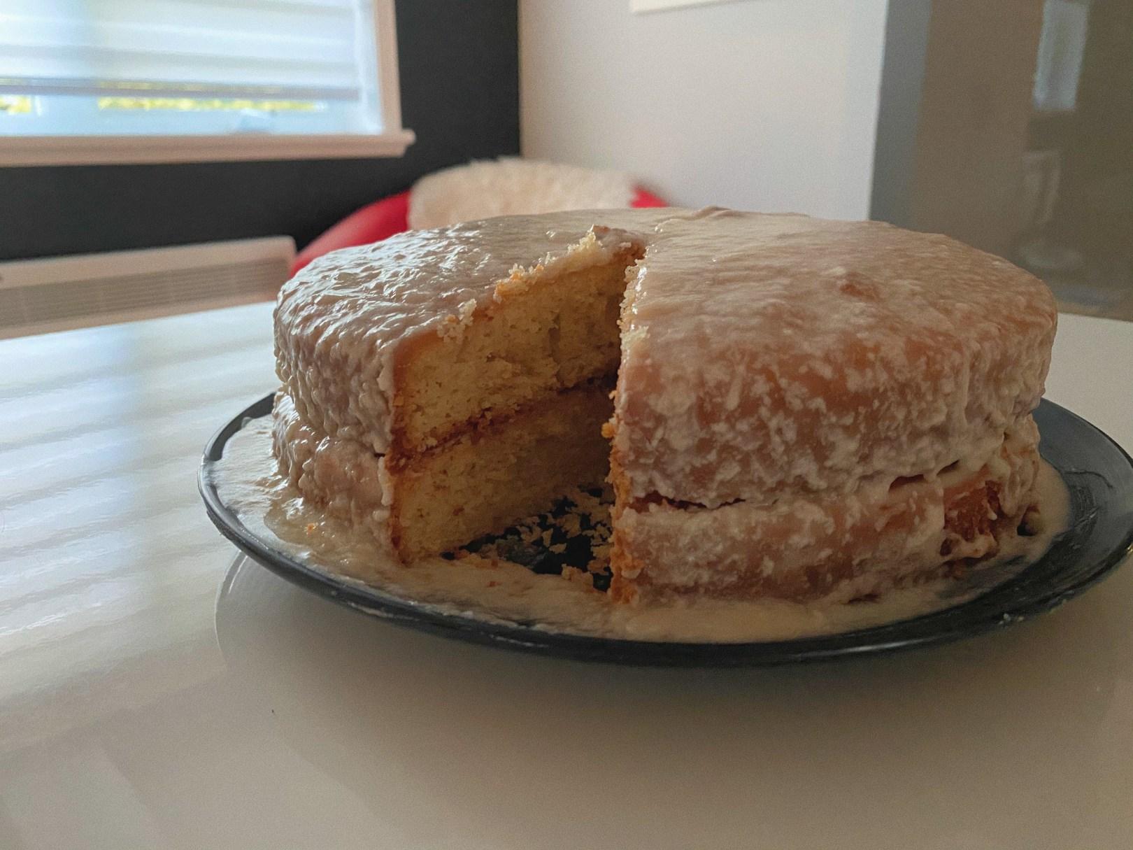 Gâteau doré sans gluten
