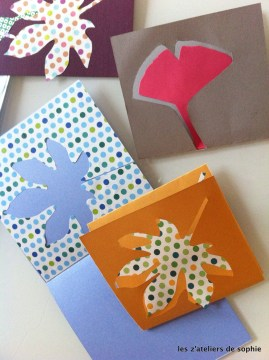 Cartes de voeux avec papiers Origami - Cut out greeting cards from Origami paper.