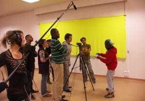 Scène de tournage
