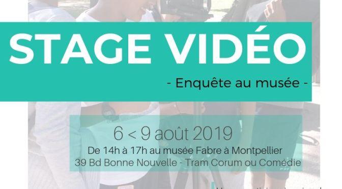 Stage Vidéo Jeunes Août – Inscriptions ouvertes !